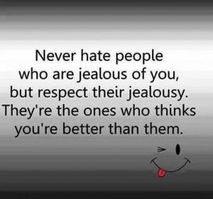 Jealousy kills.