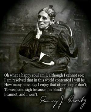 Fanny Crosby quote