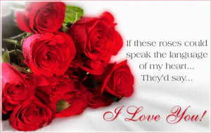 Romantic quotes with love words and roses which help you to show love ...