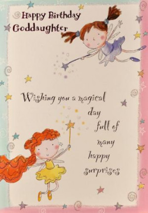 Goddaughter Birthday Cards
