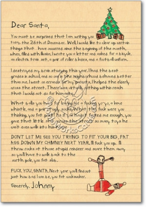 Dear Santa Naughty Letter Christmas Card