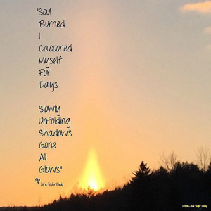 unusual #sunrise - almost looked like a #fire - and my #poem #poems ...