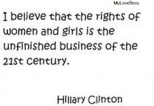 some women are trying to fight for equal rights because equal right is ...