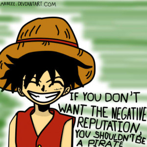 Luffy's quote by arbeee