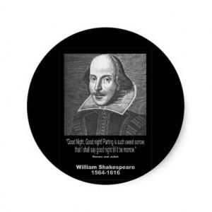 Shakespeare Quote ~ Good Night, Good night! Classic Round Sticker