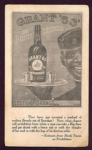 Blotter advertising Grant 63 Whiskey issued by Joseph P. Spang ...