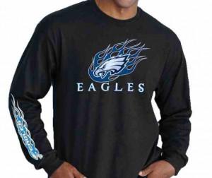 Philadelphia Eagles Long Sleeve Flame Logo
