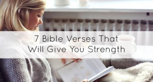 Bible verses that will strengthen you
