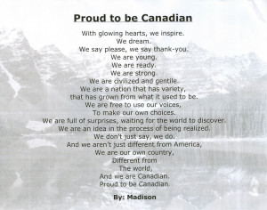 Proud To Be Mexican Poems Proud to be canadian poetry