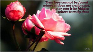 True love cannot be found where it does not truly exist, nor can it be ...