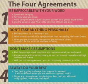 ... Don't take anything personally. 3: Don't make assumptions. 4: Always