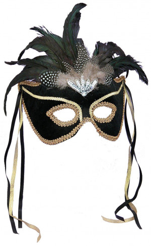 http://Black Feather Couples Mask