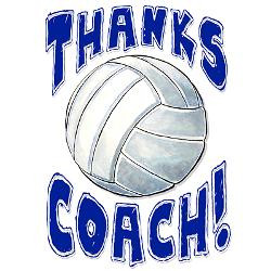 thanks_coach_volleyball_greeting_card.jpg?height=250&width=250 ...