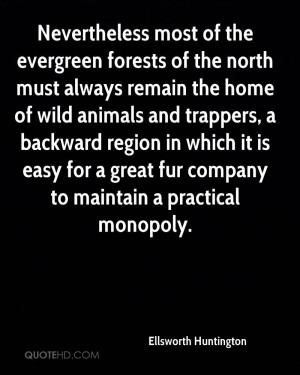 Nevertheless most of the evergreen forests of the north must always ...
