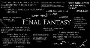 Final Fantasy Quotes by SuperGohan2132