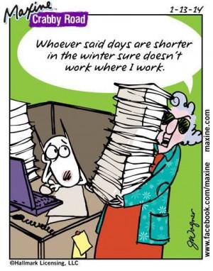 Maxine on Shorter work days in Winter