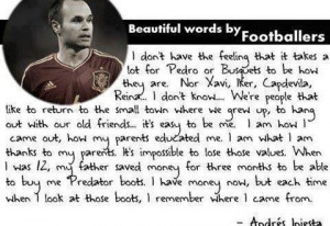 Home > Quotes > Quote remember your roots by Iniesta