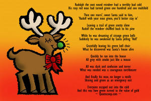 Funny Christmas Poems That Rhyme Funny rudoloh poem.