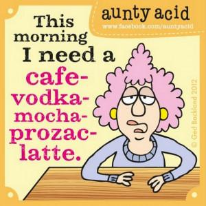 Aunty Acid cartoons