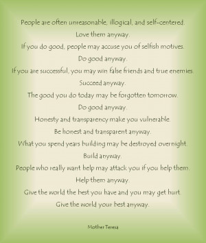 Mother Teresa's advice