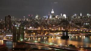 Brooklyn Bridge Night Photo