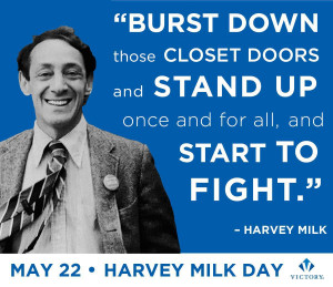 ... only if you are safe in doing it harvey milk s quote burst down those