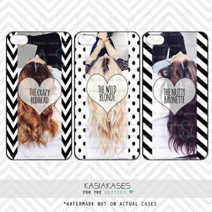 BEST FRIENDS PHONE Cases/Blonde, Brunette, Redhead/ Funny Hair Color ...