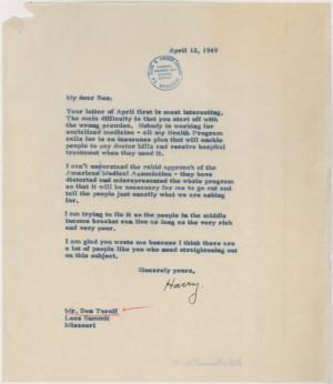 Defending universal health care - Obama? No, Harry Truman, 1949!!