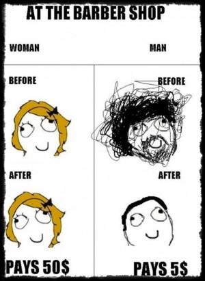 Haircut: men vs. women (pic)