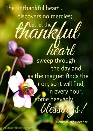 Thankful Heart #Quote by Henry Ward Beecher :: Thankful Thursday ...