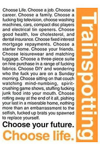 Trainspotting-Quotes-poster-Black-comedy-film-Urban-poverty-Drug ...
