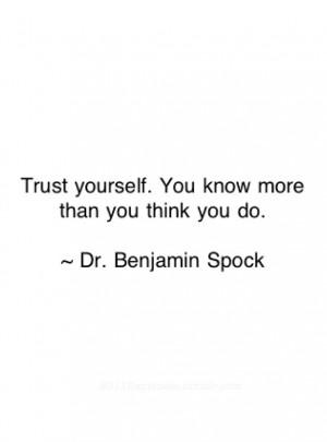 Dr. Benjamin Spock quote *