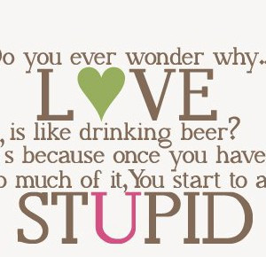 Do-you-ever-wonder-why-Love-is-like-drinking-beer-Its-because-once-you ...