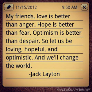 Love, Hope, Optimism - Jake Layton
