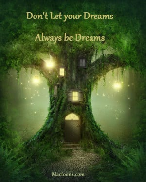 ... Good Man – Inspirational Love Quotes: Fantasy Tree House In Forest