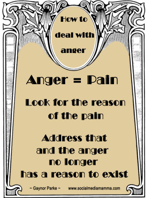 How to deal with Anger - Gaynor Parke - www.socialmediamamma.com ...
