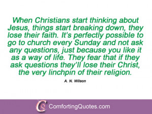Quotes By A N Wilson