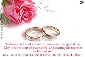 Wishing you lots of joy and happiness on this special day. May it be ...