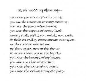 Irish Wedding Blessing - original calligraphy art - 8x10 inches - mat ...