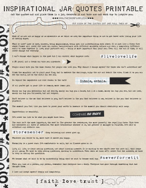 Inspirational Jar Quotes Printable