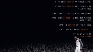 Second Kevin Durant Black Basketball NBA texts quotes wallpaper ...