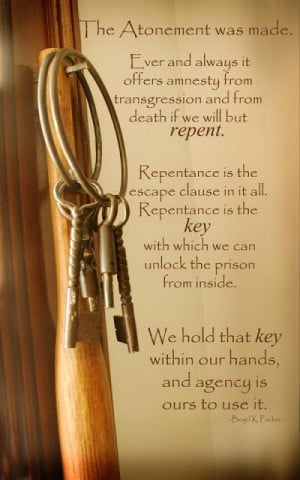 Repentance and the Atonement by Elder Boyd K. Packer