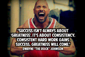 ... quotes by Dwayne 'The Rock' Johnson on Workout and Success