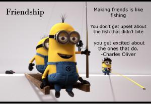 making new friends ...