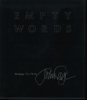 Hidden harmonies in John Cage's 'Empty Words'