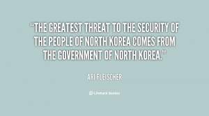 The greatest threat to the security of the people of North Korea comes ...