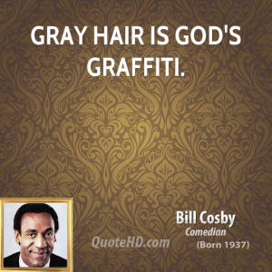 Gray hair is God's graffiti.