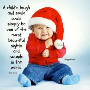 Child's laugh and smile