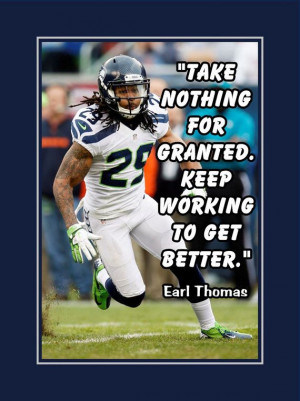 Earl Thomas Seattle Seahawks Photo Quote Fan by ArleyArtEmporium, $11 ...