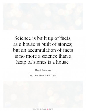 Science Quotes Fact Quotes Henri Poincare Quotes